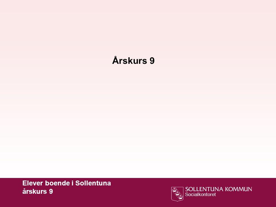 Årskurs 9 Elever boende i Sollentuna årskurs 9
