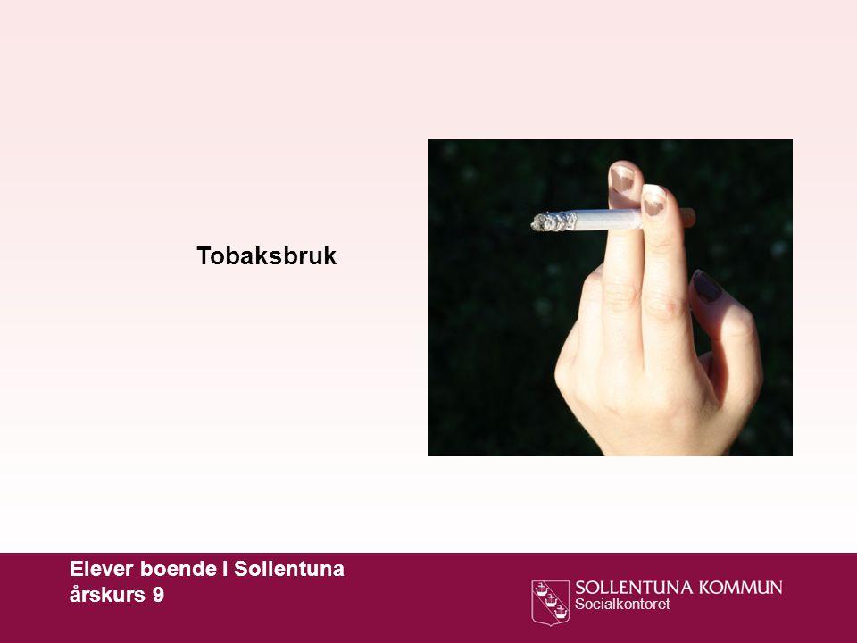Tobaksbruk Elever boende i Sollentuna årskurs 9