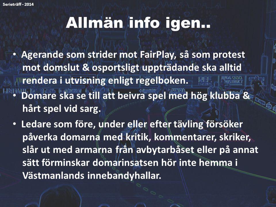 Serieträff - 2014 Allmän info igen..