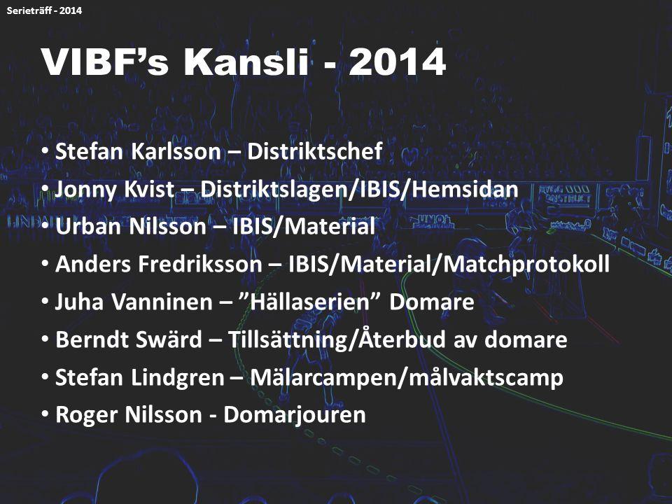 VIBF's Kansli - 2014 Stefan Karlsson – Distriktschef