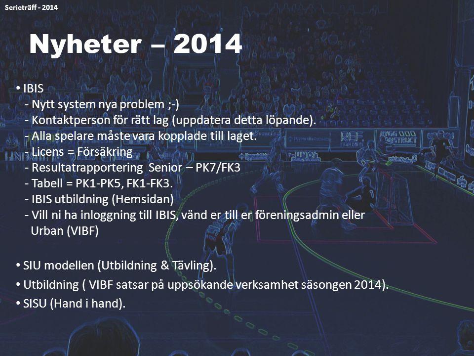Serieträff - 2014 Nyheter – 2014.