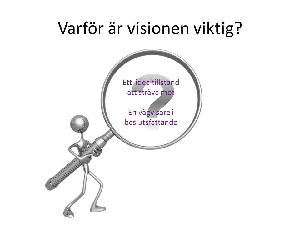 Varför är visionen viktig