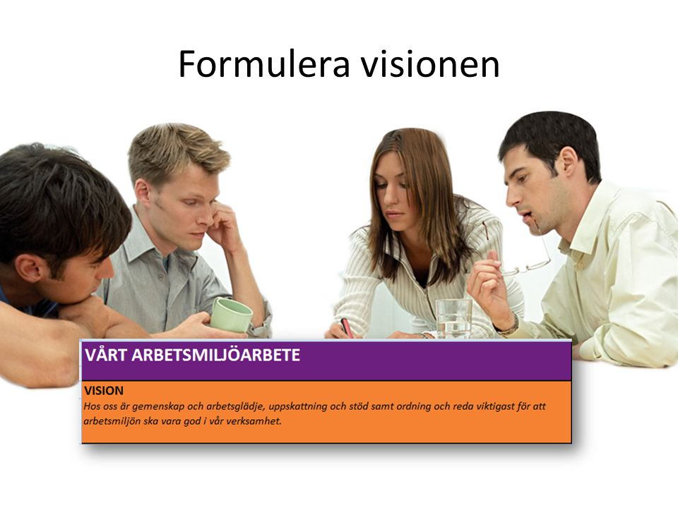 Formulera visionen