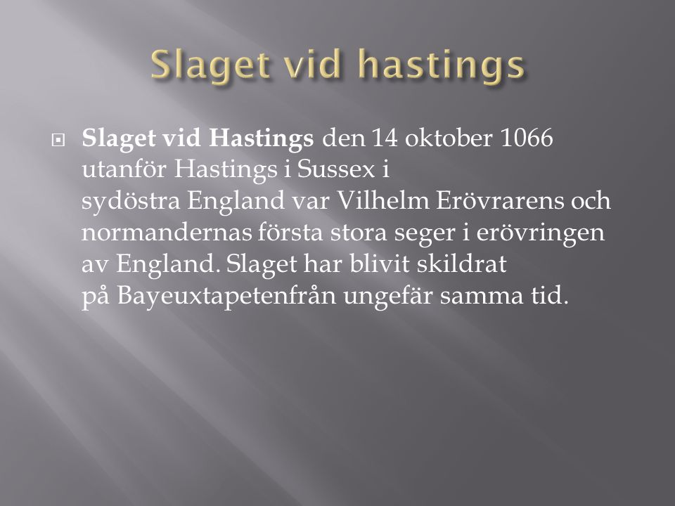 Slaget vid hastings