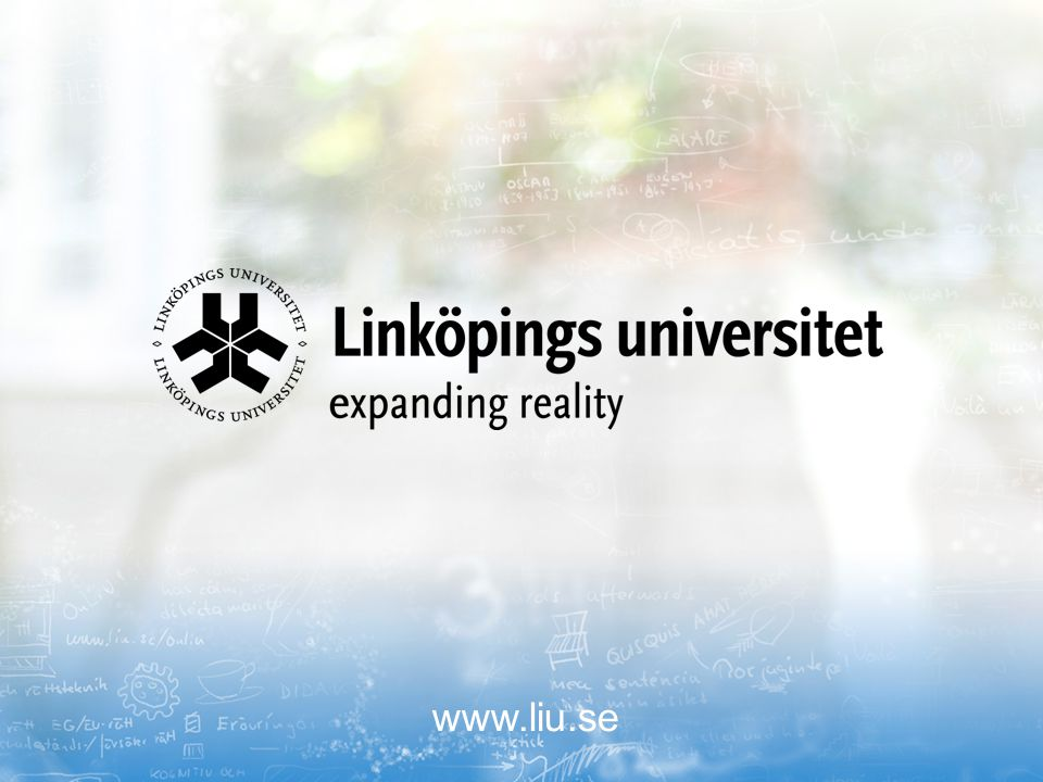 2017-04-07 www.liu.se Linköpings universitet