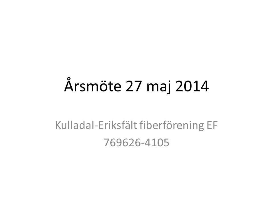 Kulladal-Eriksfält fiberförening EF 769626-4105