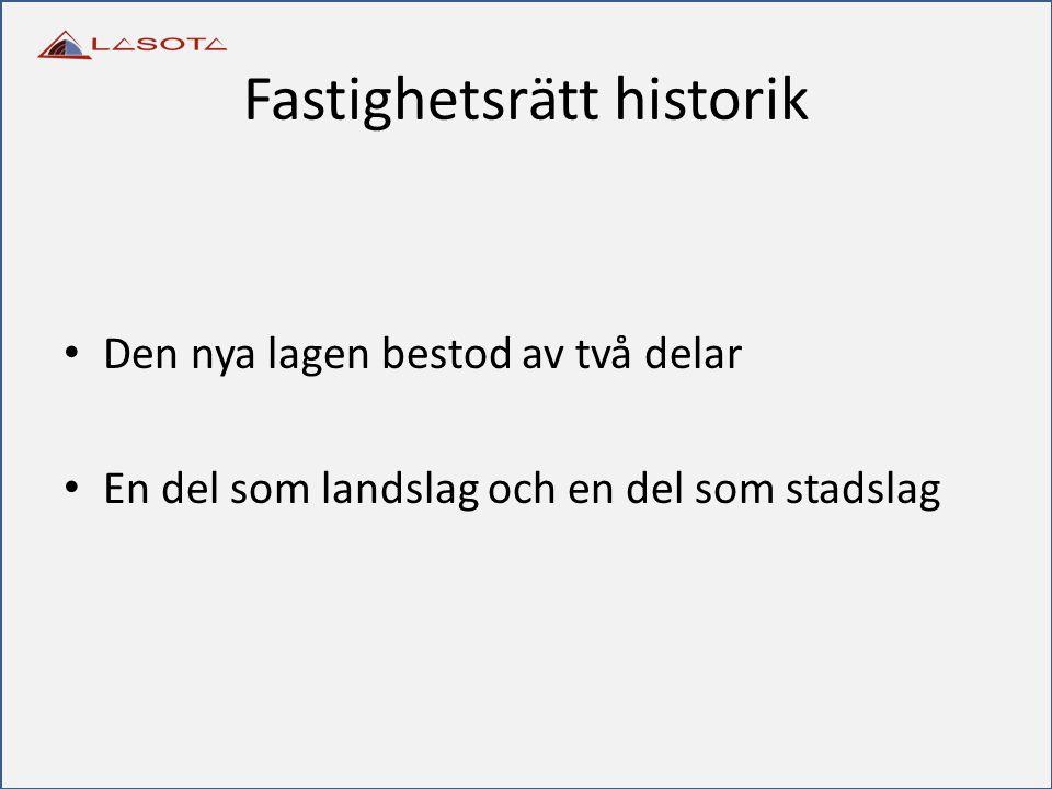 Fastighetsrätt historik
