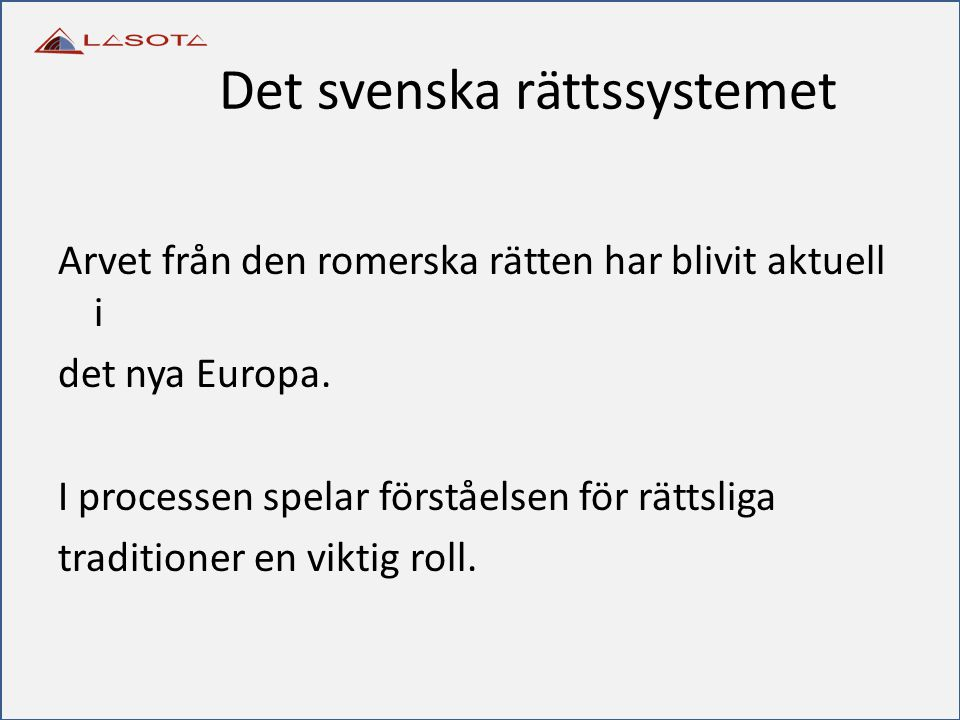 Det svenska rättssystemet