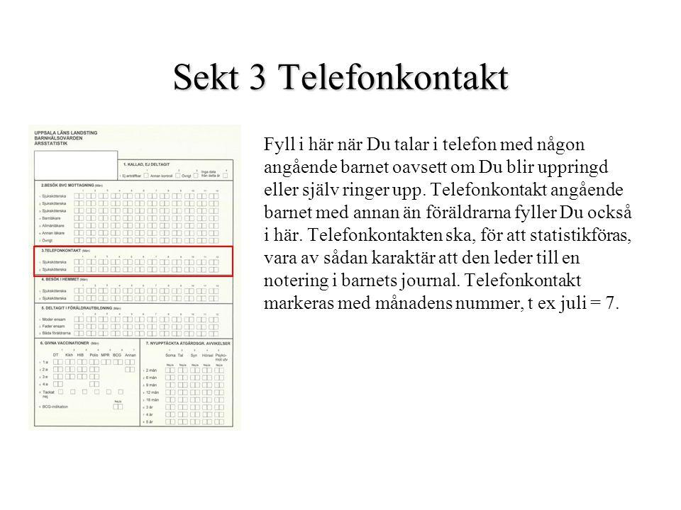 Sekt 3 Telefonkontakt