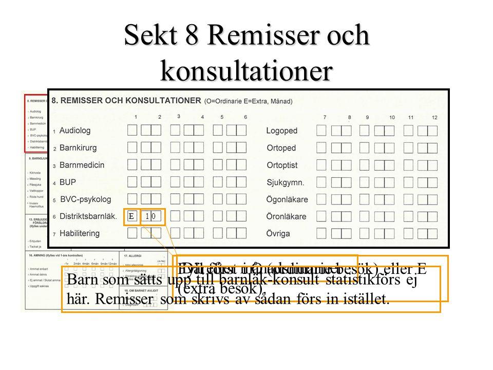 Sekt 8 Remisser och konsultationer