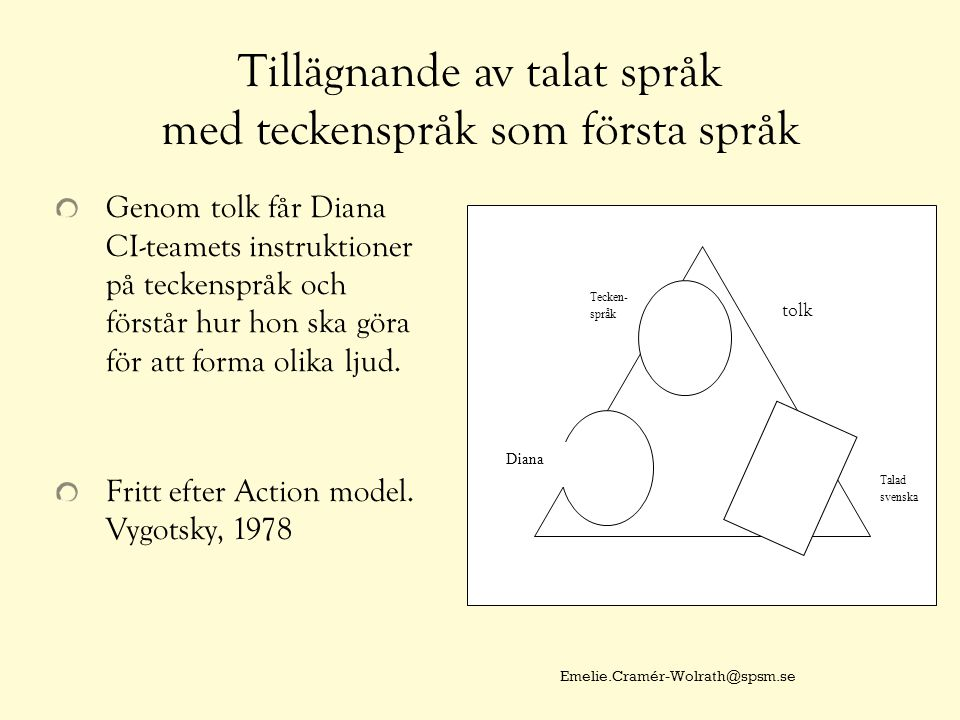 Tillägnande av talat språk med teckenspråk som första språk