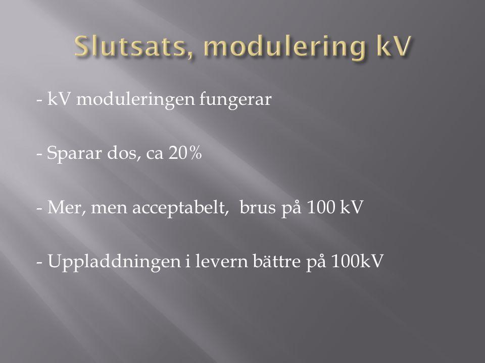 Slutsats, modulering kV