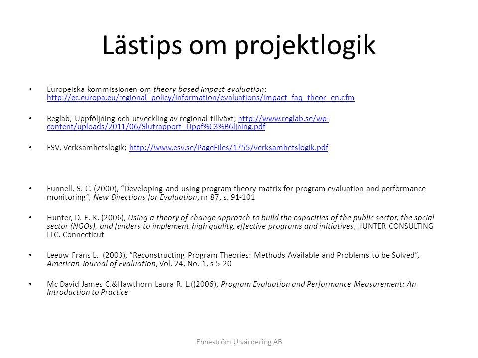 Lästips om projektlogik