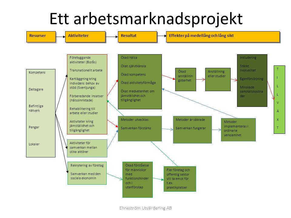 Ett arbetsmarknadsprojekt