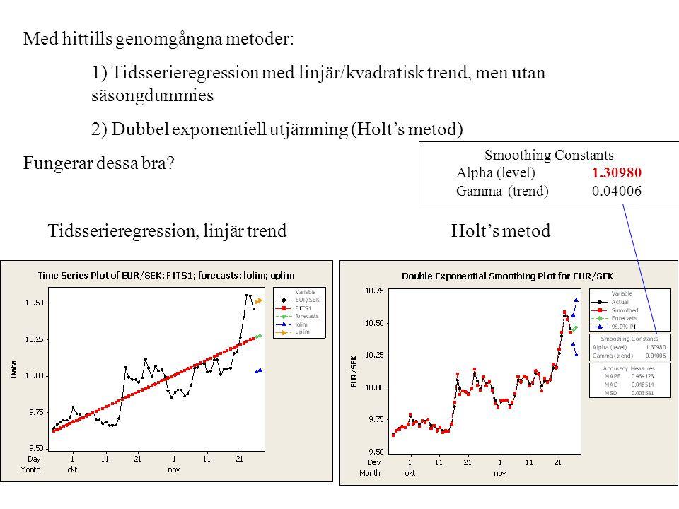 Tidsserieregression, linjär trend