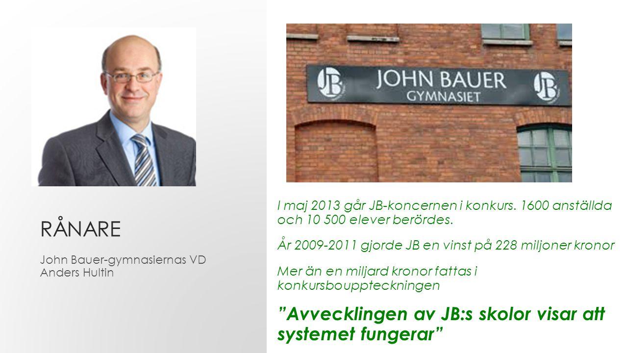 RÅNARE Avvecklingen av JB:s skolor visar att systemet fungerar