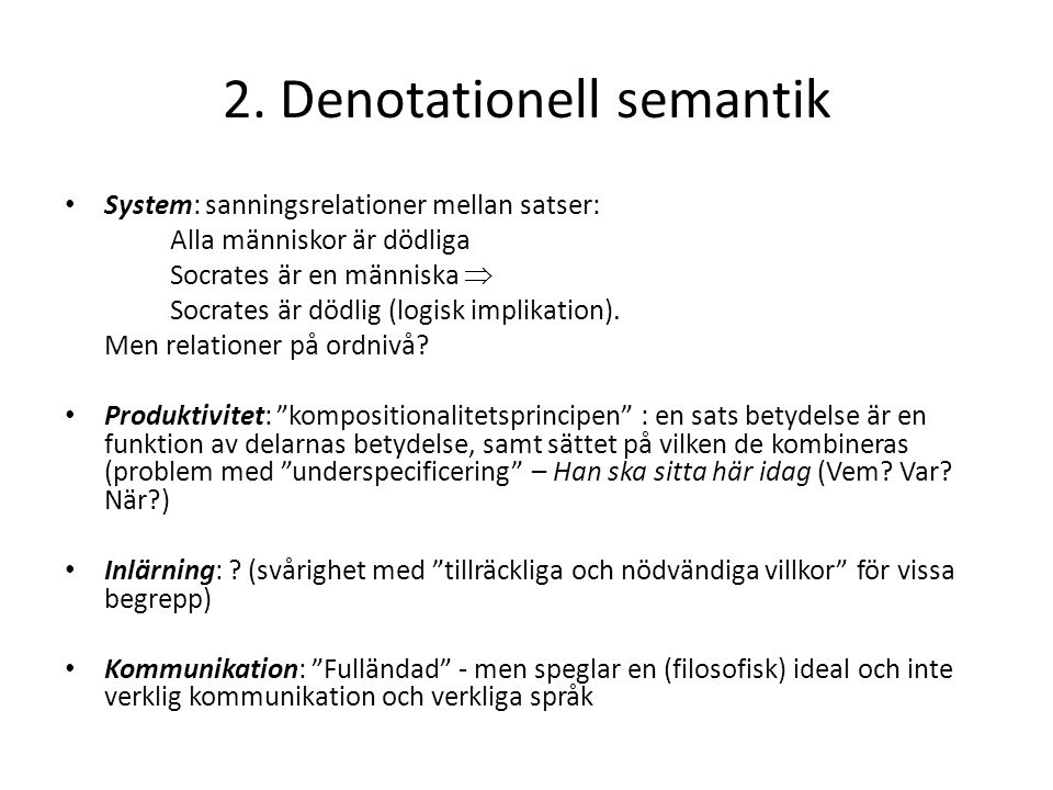 2. Denotationell semantik