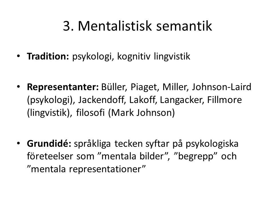 3. Mentalistisk semantik