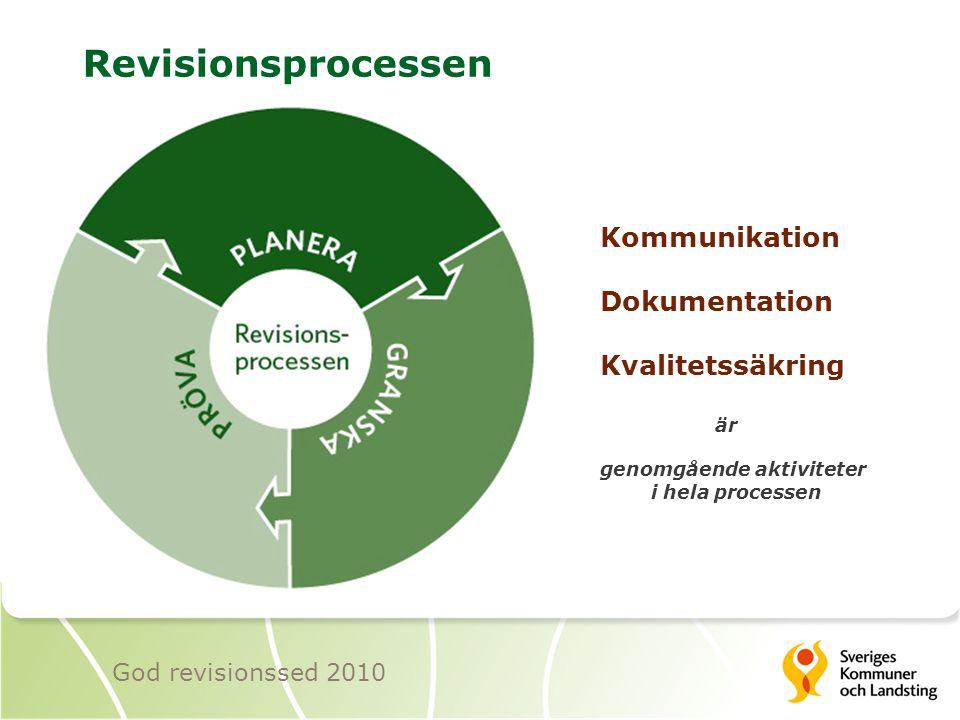 Revisionsprocessen Kommunikation Dokumentation Kvalitetssäkring