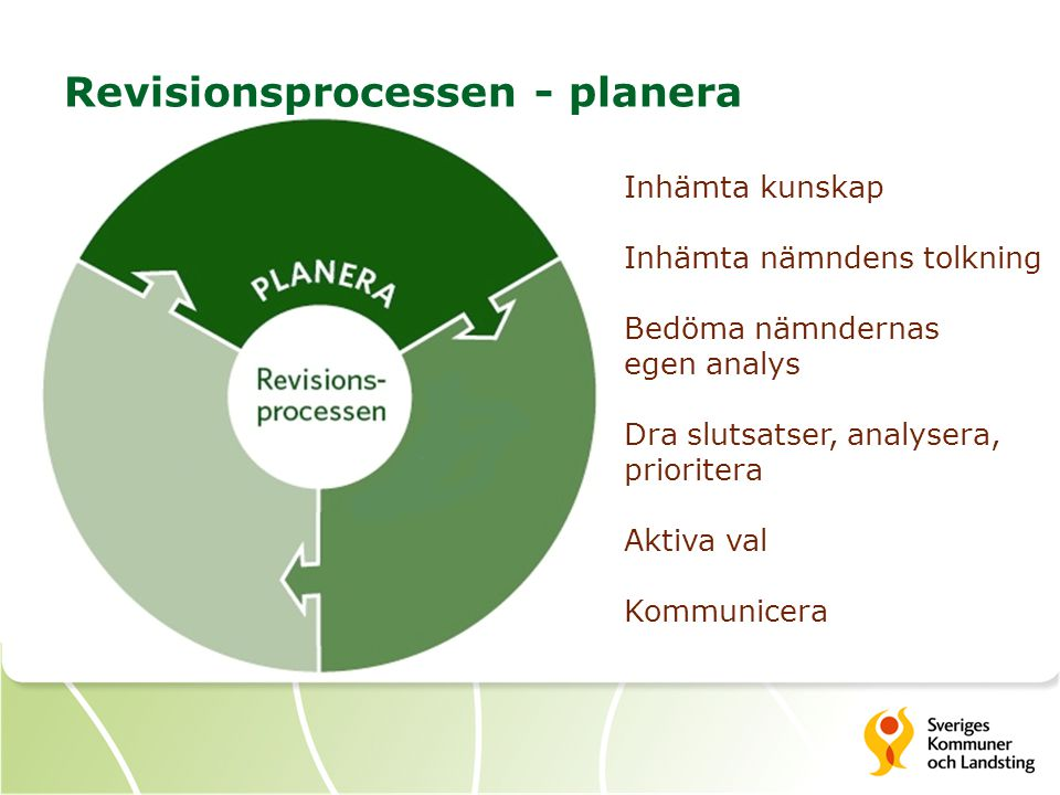 Revisionsprocessen - planera