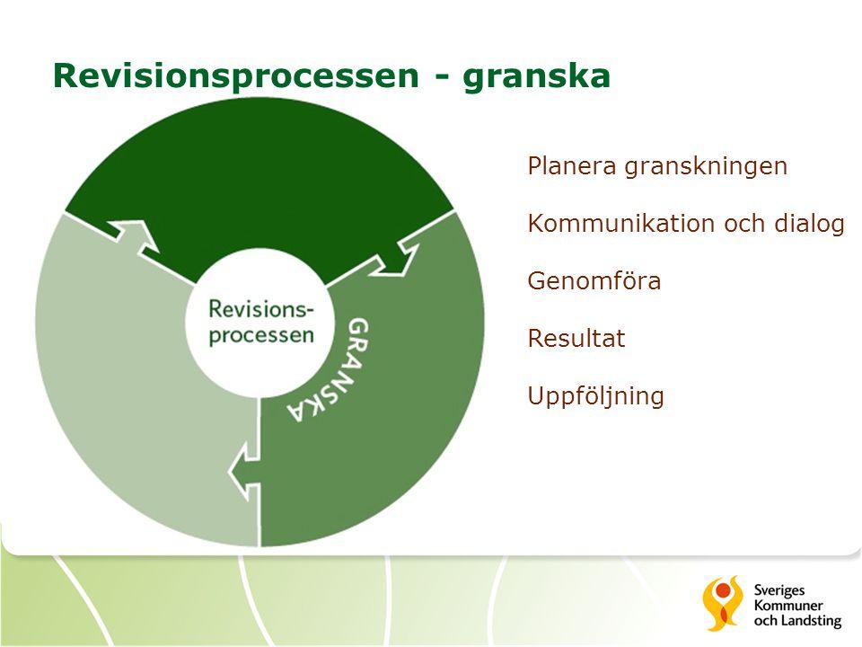 Revisionsprocessen - granska