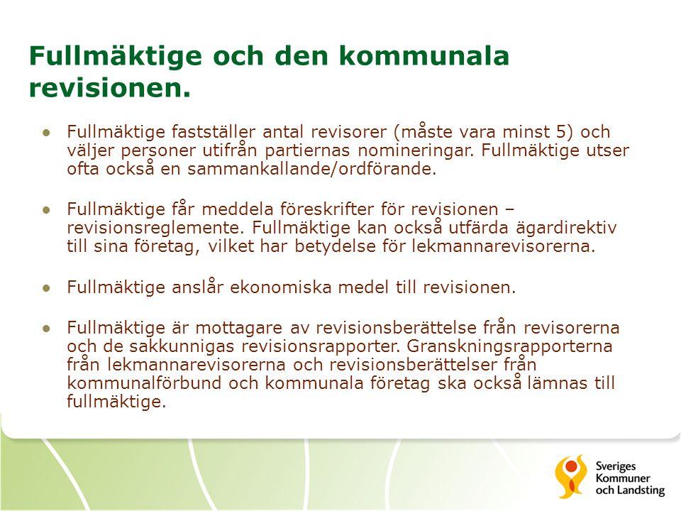 Fullmäktige och den kommunala revisionen.