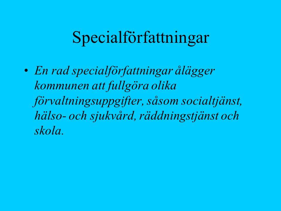 Specialförfattningar