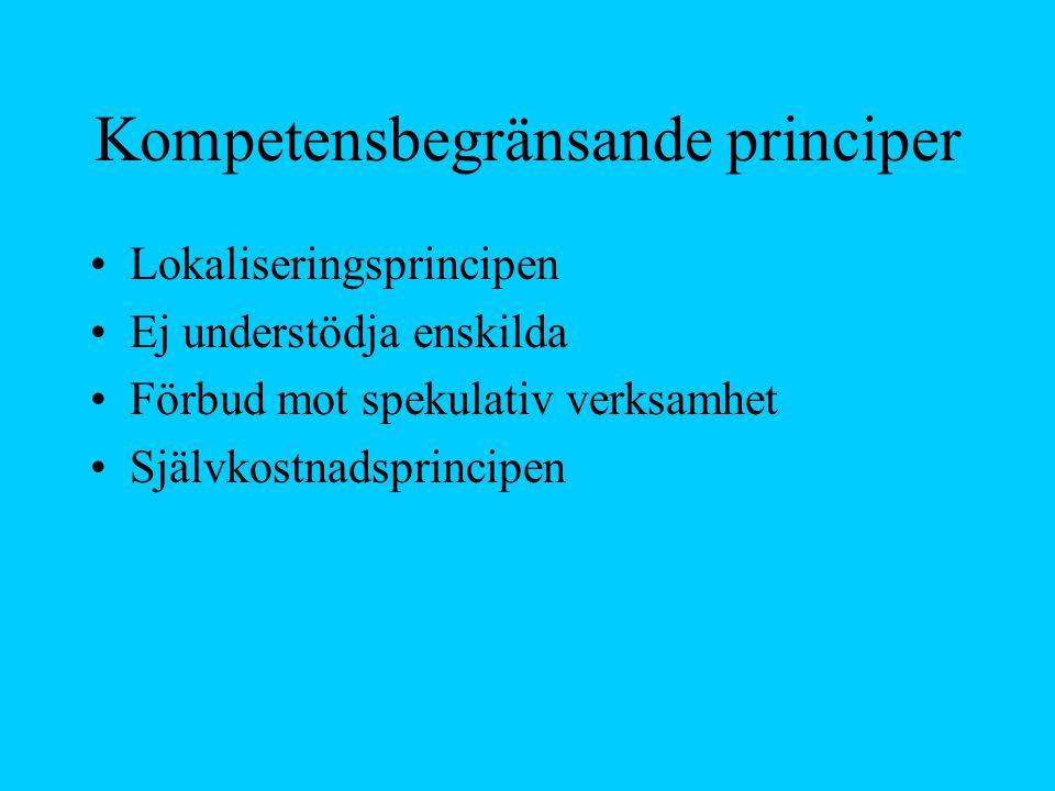 Kompetensbegränsande principer