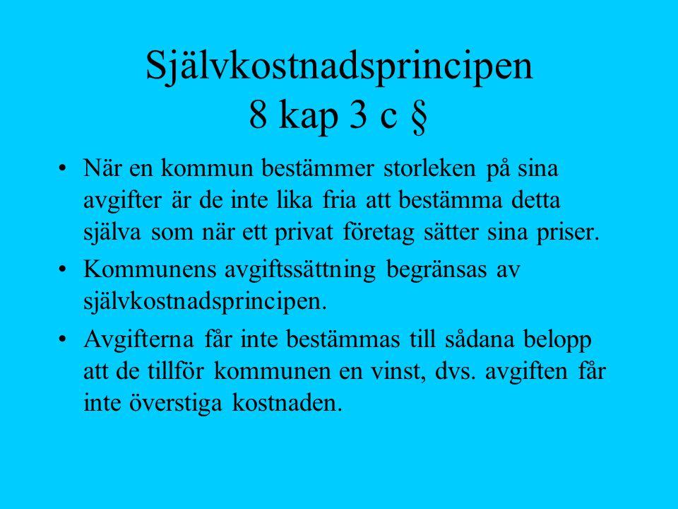 Självkostnadsprincipen 8 kap 3 c §