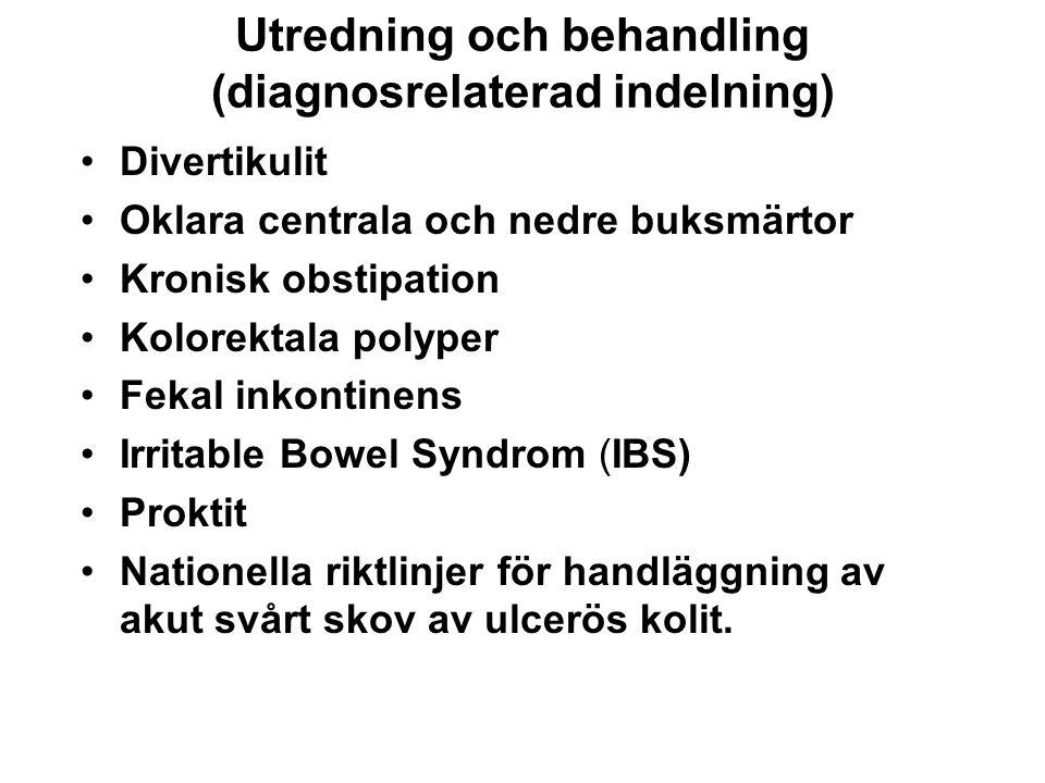 Utredning och behandling (diagnosrelaterad indelning)