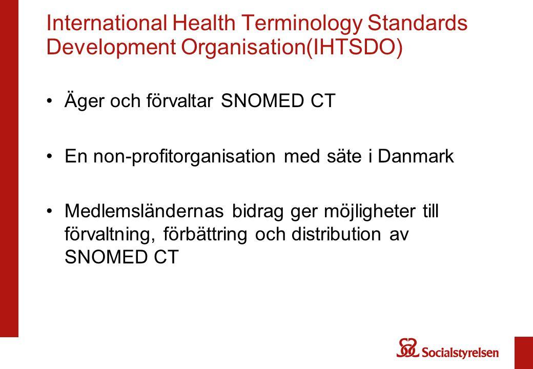International Health Terminology Standards Development Organisation(IHTSDO)