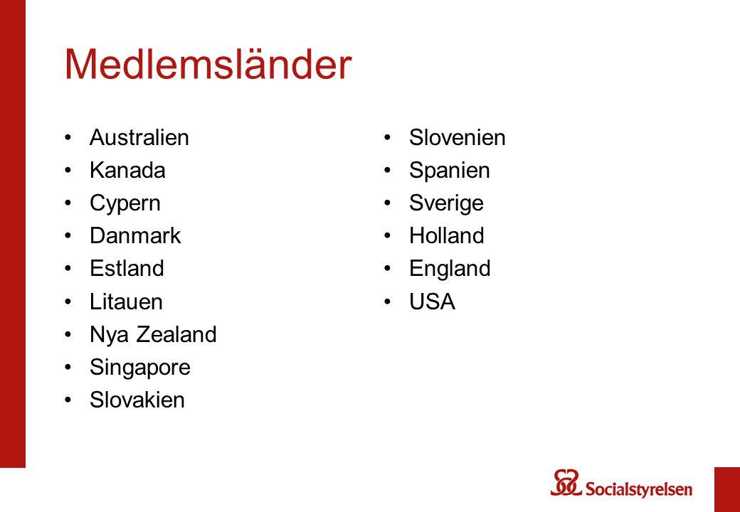 Medlemsländer Australien Kanada Cypern Danmark Estland Litauen