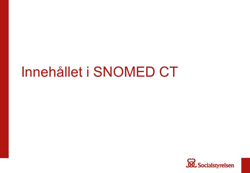 Innehållet i SNOMED CT