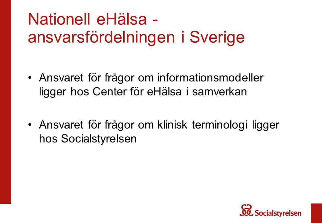 Nationell eHälsa - ansvarsfördelningen i Sverige