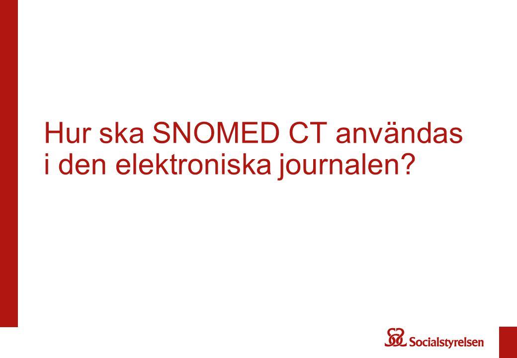Hur ska SNOMED CT användas i den elektroniska journalen