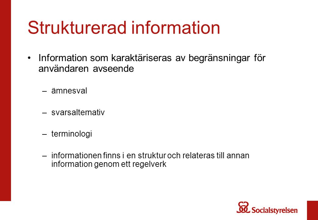 Strukturerad information