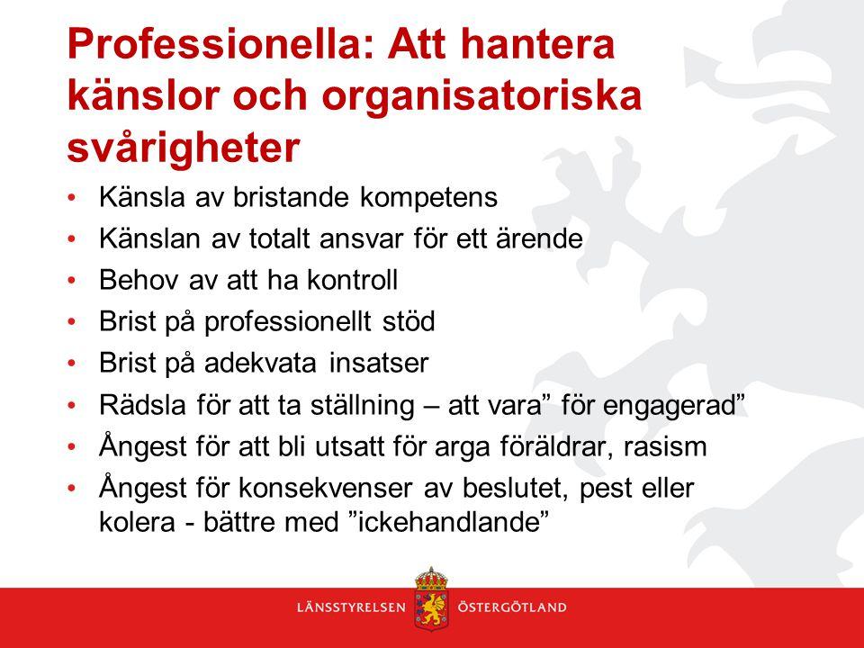 Professionella: Att hantera känslor och organisatoriska svårigheter