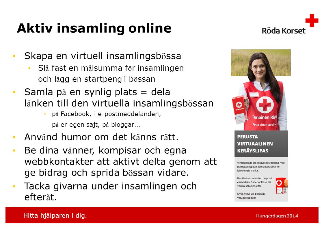 Aktiv insamling online