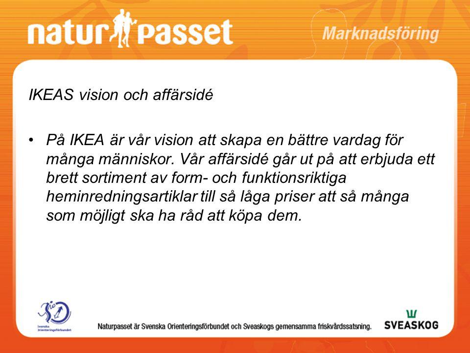 IKEAS vision och affärsidé