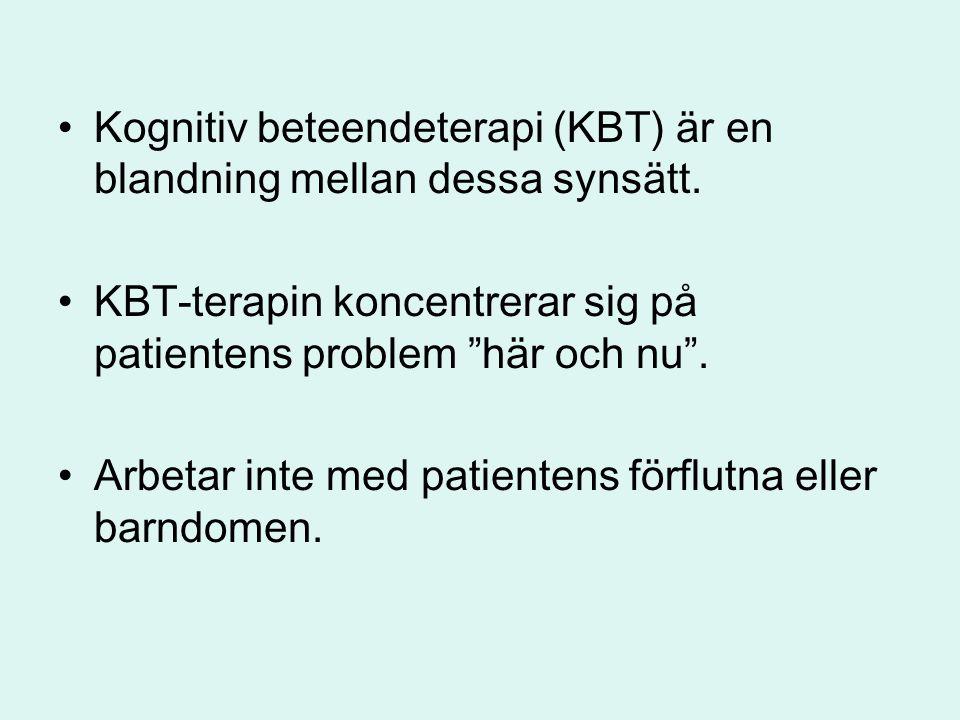 Kognitiv beteendeterapi (KBT) är en blandning mellan dessa synsätt.