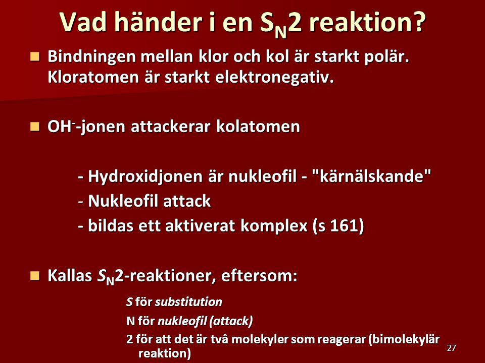 Vad händer i en SN2 reaktion