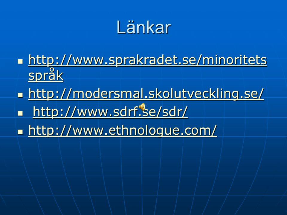 Länkar http://www.sprakradet.se/minoritetsspråk