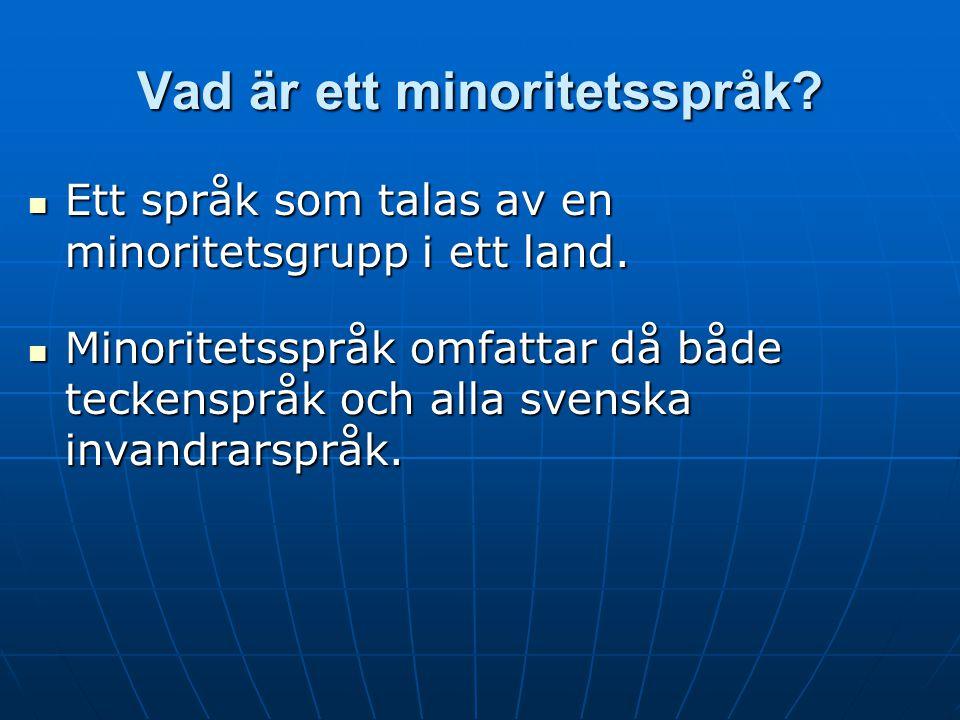Vad är ett minoritetsspråk