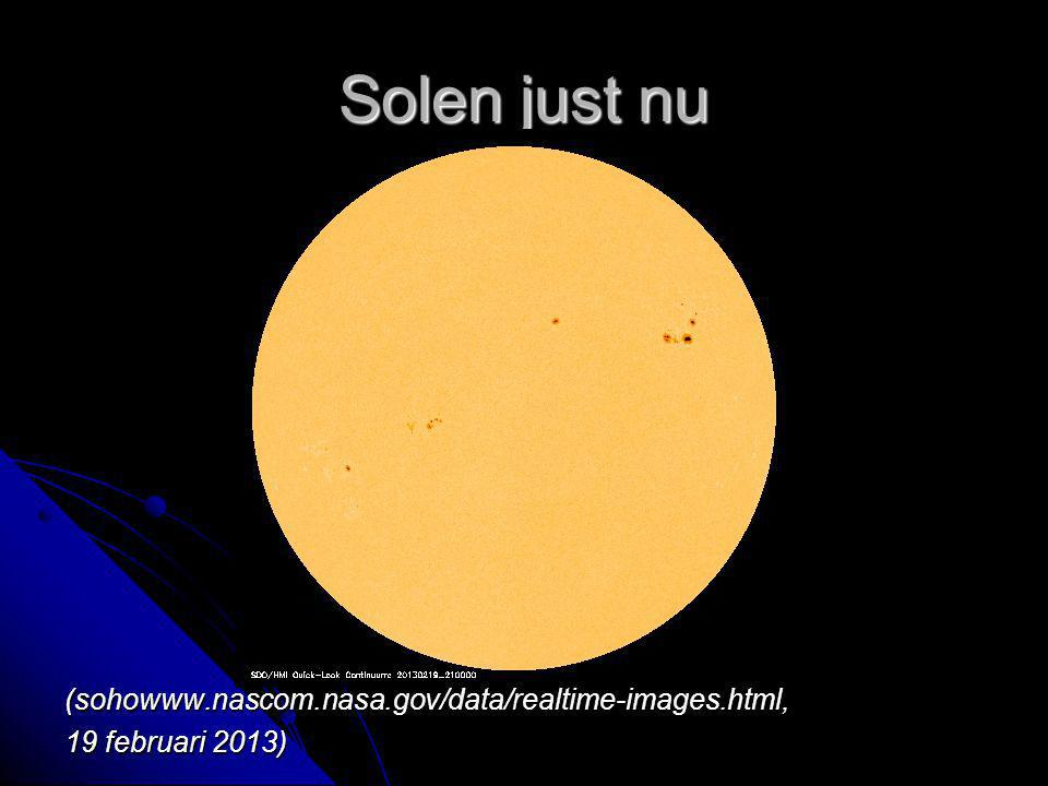 Solen just nu (sohowww.nascom.nasa.gov/data/realtime-images.html,