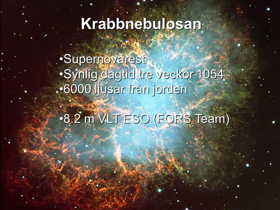Krabbnebulosan Supernovarest Synlig dagtid tre veckor 1054