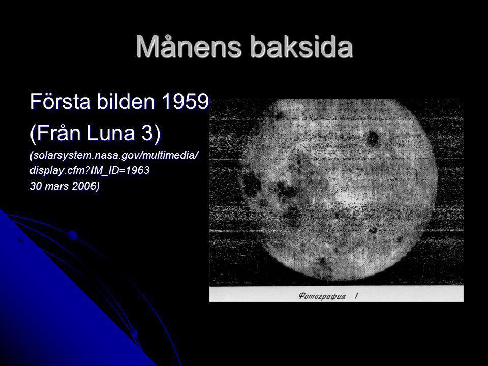 Månens baksida Första bilden 1959 (Från Luna 3)
