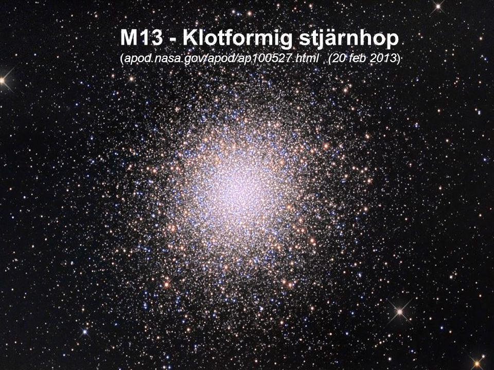 M13 - Klotformig stjärnhop