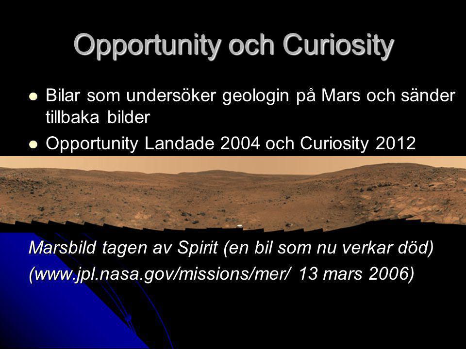 Opportunity och Curiosity