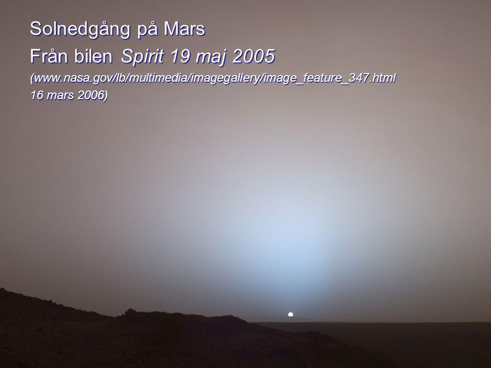 Solnedgång på Mars Från bilen Spirit 19 maj 2005