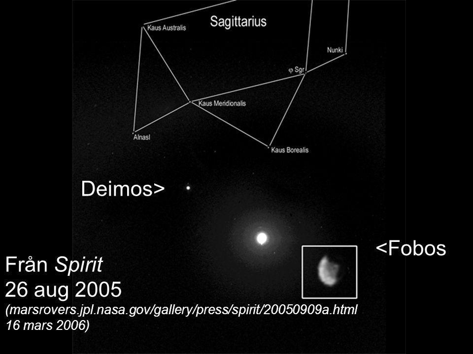 Deimos> Från Spirit 26 aug 2005 <Fobos